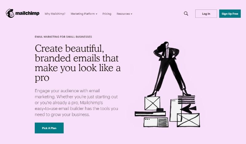 MailChimp Main Page