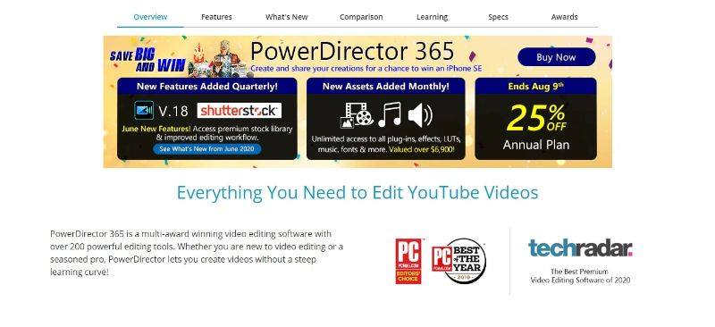 CyberLink PowerDirector - Main Page