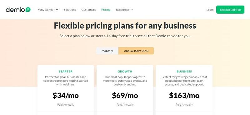 Demio Pricing Annually