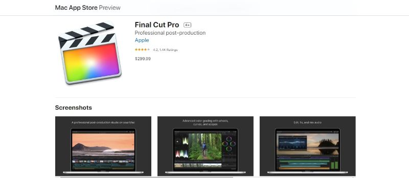 Final Cut Pro - Buying Page