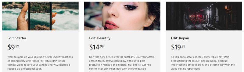 HitFilm Express - Buying Page Edit