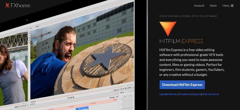 Hitfilm Express - Main Page