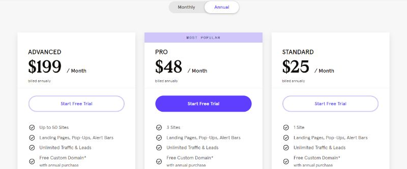 Leadpages Landing Page Software Pricing