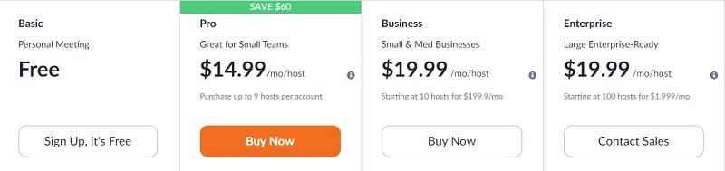 Zoom Video Webinar Pricing