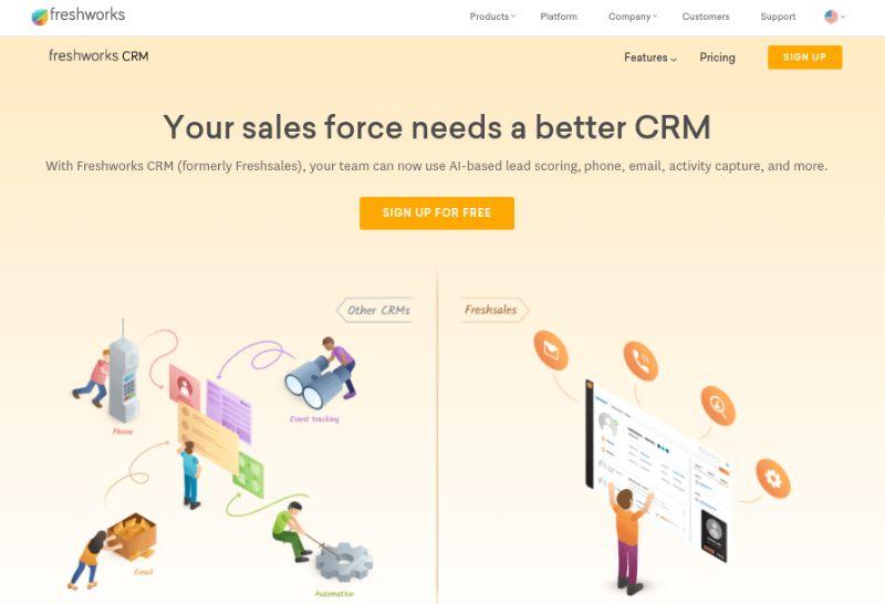 Freshsales Best CRM Software