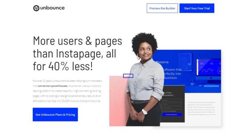 best landing page design unbounce