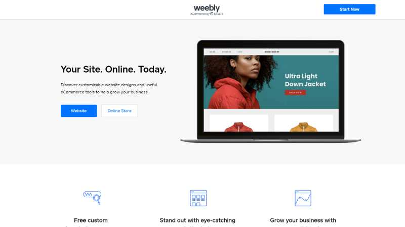 best landing page design examples weebly
