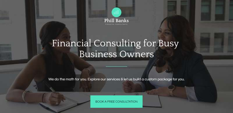 financial services opt-in landing page template