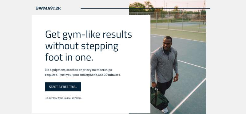 fitness app landing page template leadpages