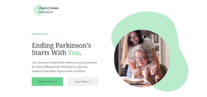 non-profit donation landing page template