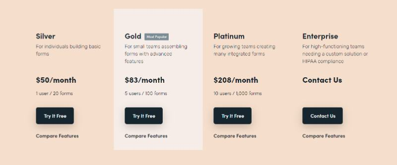 formstack forms pricing